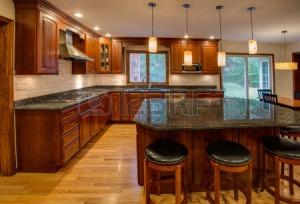 granite countertop and upscale kitchen